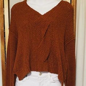 Fall color orange Sweater